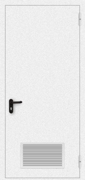 Однопольная дверь с вентиляцией (порошок / белая)