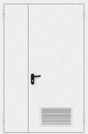 Полуторапольная дверь с вентиляцией (порошок / белая)