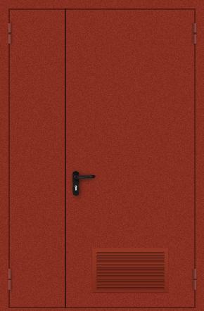 Полуторапольная дверь с вентиляцией (порошок / красная)