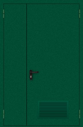 Полуторапольная дверь с вентиляцией (порошок / зеленая)