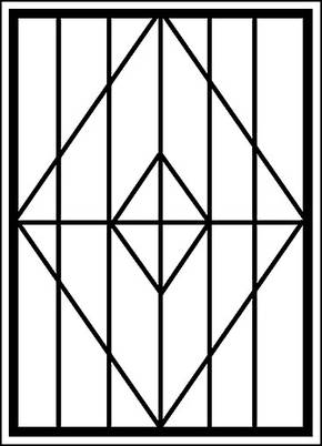 Сварная решетка на окно RS-003