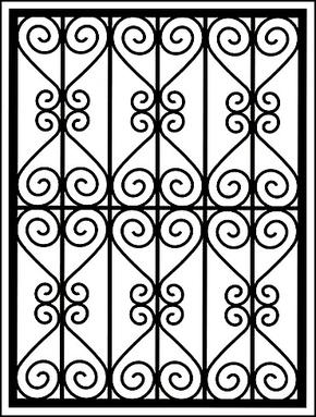 Сварная решетка на окно RS-009