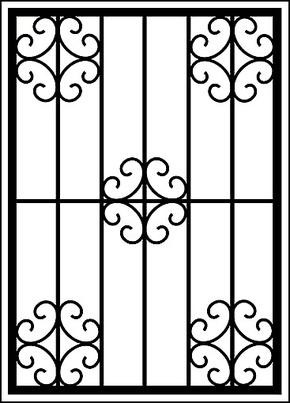 Сварная решетка на окно RS-010