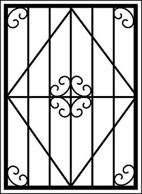 Сварная решетка на окно RS-013