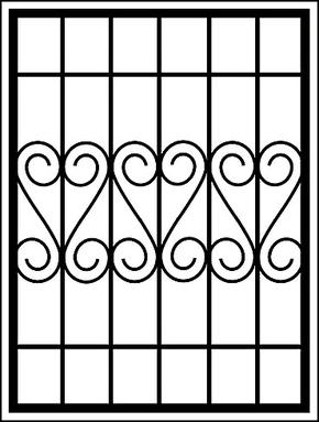 Сварная решетка на окно RS-016